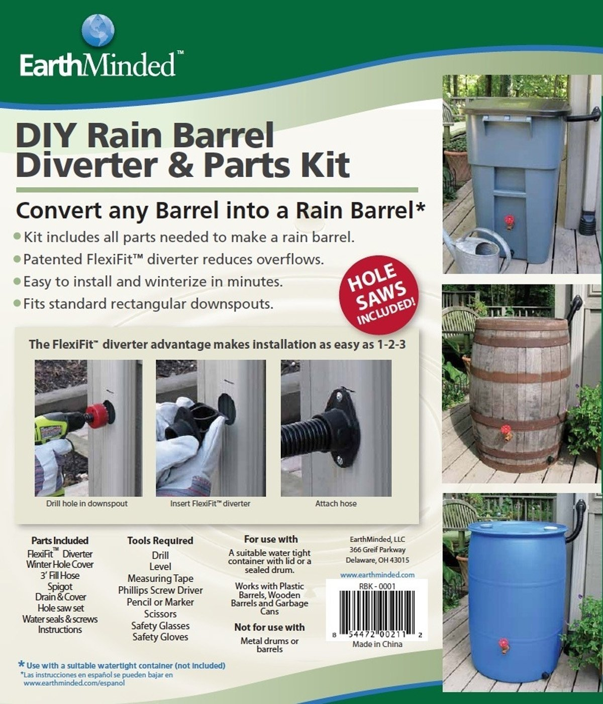 Diy rain barrel kit a cheap easy way to collect rainwater for How to make your own rain barrel system